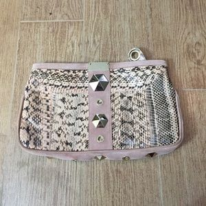 Excellent Condition Jimmy Choo Snakeskin Clutch